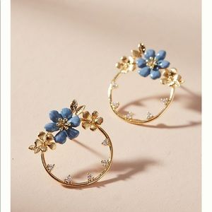ANTHROPOLOGIE LUAU mini hoop post earrings NWT